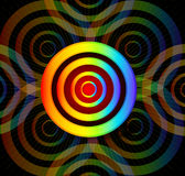 Rainbow cirlce in dark background Stock Photos