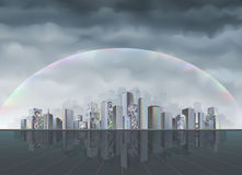 Rainbow city Royalty Free Stock Photos