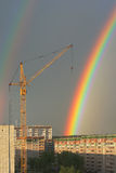 Rainbow in the city Stock Photography