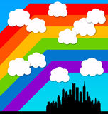 Rainbow city Stock Photography