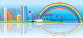 Rainbow City Stock Photos