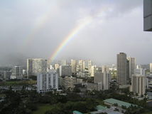 Rainbow in the city Royalty Free Stock Photography