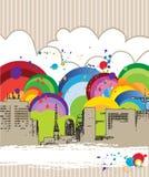 Rainbow city Royalty Free Stock Photo