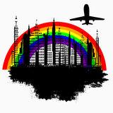 Rainbow City Royalty Free Stock Images