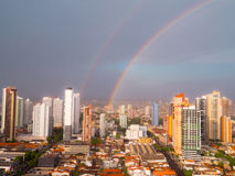 Rainbow of city Stock Image