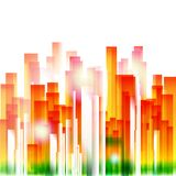 Rainbow city geometric background Stock Image