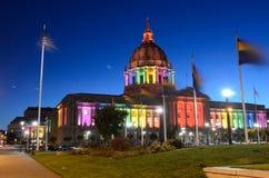 Rainbow City Hall. A Rainbow San Francisco City Hall Royalty Free Stock Photo