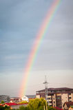 Rainbow and city Royalty Free Stock Photography