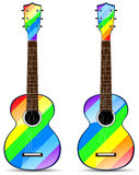 rainbow classical acoustic guitar Stock Image