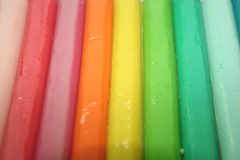 Rainbow clay. Multi colored clay to make objects with Royalty Free Stock Image