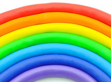 Rainbow clay plasticine Stock Photography