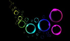 Rainbow clean quality water bubble liquid background for modern backgrounds, brochure layouts, flyer design, cover template royalty free illustration