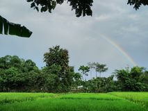The Rainbow  Click.... I click this beautiful nature pic from my phone Stock Photos