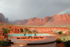 Rainbow cliffs. Backyard Stock Photography