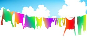 Rainbow clothes Royalty Free Stock Photo