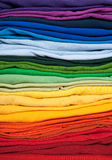 Rainbow clothes background stock photography