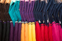 Rainbow clothes background. Royalty Free Stock Photos