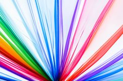 Rainbow clothes for background, texture Stock Photography
