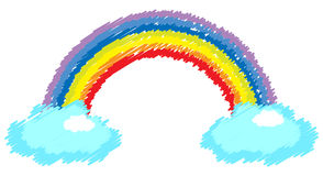 Rainbow with cloud Stock Photography
