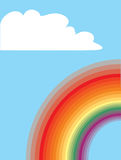 Rainbow and cloud Royalty Free Stock Photo