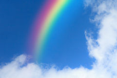 Rainbow and cloud Royalty Free Stock Photos