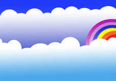 Rainbow and cloud Stock Images