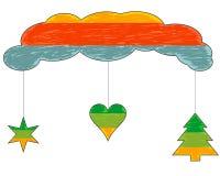 Rainbow cloud Royalty Free Stock Photos