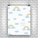 Rainbow and cloud design royalty free illustration