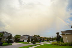 Rainbow and cloud. In Florida, taken in Tampa Royalty Free Stock Photography