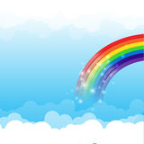 Rainbow cloud and sky background 003. Rainbow cloud and blue sky background vector illustration Vector Illustration