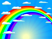 Rainbow in cloudes royalty free stock images