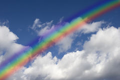 Rainbow and clouds Royalty Free Stock Images