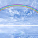 Rainbow and clouds Royalty Free Stock Image