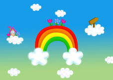 Rainbow on a clouds Royalty Free Stock Photography