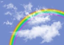 Rainbow in clouds Royalty Free Stock Photography
