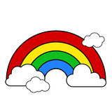 Rainbow on clouds Stock Photography