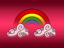 Rainbow on clouds Royalty Free Stock Photo