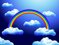 Rainbow_in_the_clouds. Rainbow in the clouds, vector illustration, AI file included Royalty Free Stock Photography