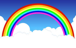 Rainbow in clouds a background natural Stock Image