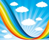 Rainbow and clouds. Rainbow and clouds in the blue sky Royalty Free Stock Photography