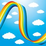 Rainbow and clouds. Rainbow and clouds in the blue sky Royalty Free Stock Image