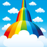Rainbow and clouds. Rainbow and clouds in the blue sky Royalty Free Stock Images