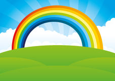 Rainbow and clouds. Royalty Free Stock Photos