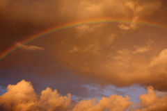 Rainbow clouds Royalty Free Stock Image