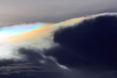 Rainbow clouds Stock Image