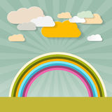 Rainbow and Clouds Stock Photography