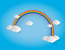 Rainbow and clouds in the sky Stock Photos