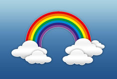 Rainbow and clouds in the sky Royalty Free Stock Images