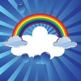 Rainbow and clouds Stock Images