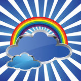 Rainbow and clouds Royalty Free Stock Photography